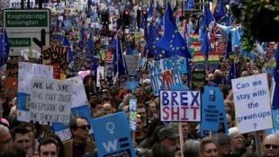 مسيرات حاشدة في لندن للمطالبة باستفتاء جديد حول الخروج من الاتحاد الأوروبي، لندن، 23 مارس/آذار 2019