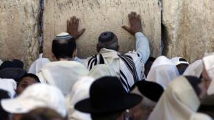 Prière au mur des Lamentations, dans la vieille ville de Jérusalem, le 4 juin 2015.