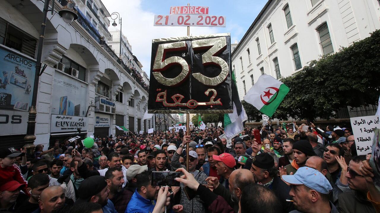 مظاهرات بالعاصمة الجزائرية 21 فبراير/شباط 2020.