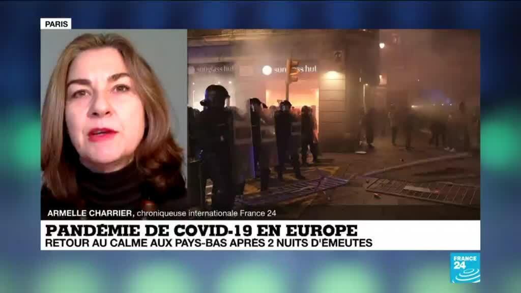 2021-01-27 10:35 Pandémie de Covid-19 en Europe : retour au calme aux Pays-Bas après plusieurs nuits d'émeutes