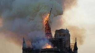 At around 7.50 pm (1750 GMT), Notre-Dame's spire collapsed and within a few hours, a large part of the roof had been reduced to ashes