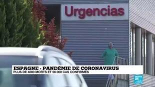 2020-03-26 13:01 Coronavirus en Espagne : Plus de 4000 morts et 56.000 cas confirmés