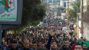 Thousands of students protested against Bouteflika's bid for a fifth term, with rallies in and around the capital Algiers and other cities