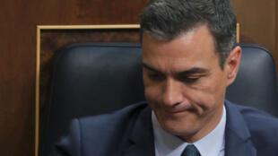 Pedro Sánchez durante el último día del debate de investidura en el Parlamento en Madrid, España, el 25 de julio de 2019.
