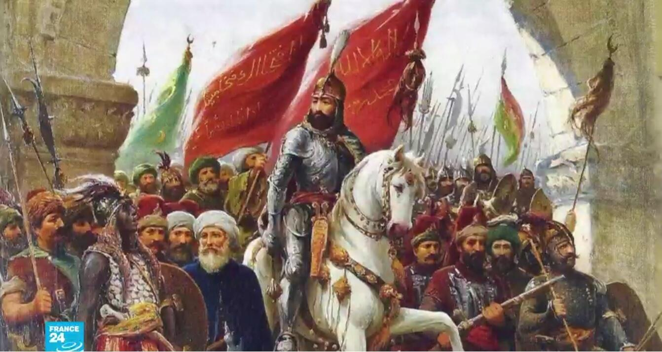 السلطان العثماني محمد الفاتح لدى سيطرته على إسطنبول في عام 1453.