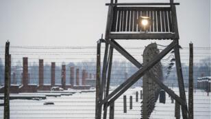 Vue du camp d'Auschwitz, en Pologne, en janvier 2015.