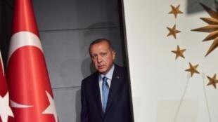 الرئيس التركي رجب طيب أردوغان بعيد فوزه في الانتخابات الرئاسية والتشريعية