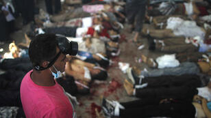 Une morgue installée près de la place Rabaa al-Adhawiya, au Caire, le 14 août 2013 (archives).