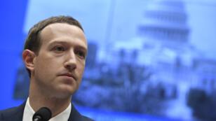 Le PDG de Facebook Mark Zuckerberg au Sénat américain, le 10 avril 2018.