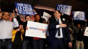 Benoît Hamon à son meeting à Montreuil le 26 janvier 2017.