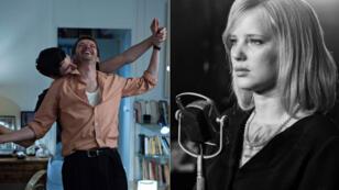 على اليمين مشهد من فيلم بافليكوفسكي وعلى اليسار مشهد من فيلم هونوري