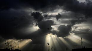 El cielo cubierto de Roma, en pleno confinamiento, el 14 de mayo de 2020