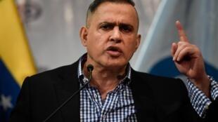 El fiscal general de Venezuela, Tarek William Saab, el 24 de enero de 2020 en Caracas