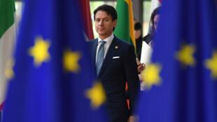 Le chef du gouvernement populiste italien, Giuseppe Conte, le 28 juin 2018 à Bruxelles.