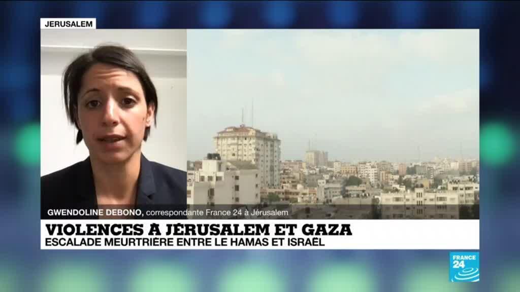 2021-05-11 13:05 Violences à Jérusalem et Gaza : nouvelle journée d'affrontements entre Israéliens et Palestiniens