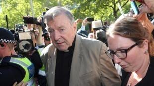 Le cardinal George Pell à Melbourne, le 27 février 2019.