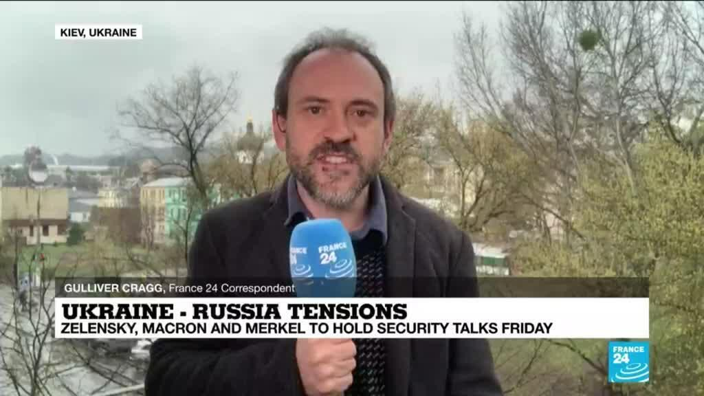 2021-04-16 12:07 Ukraine-Russia tensions: Zelensky, Macron and Merkel hold security talks