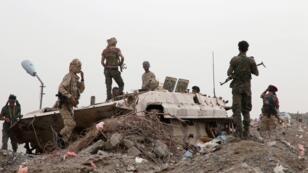 قوات الانفصاليين الجنوبيين خلال اشتباكات مع القوات الحكومية في عدن 10 أغسطس/آب 2019