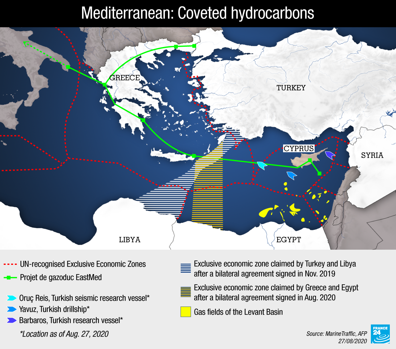 Hydrocarbons in the Mediterranean