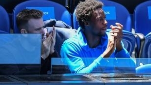 Elina Svitolina revealed last week that she is dating French star Gael Monfils (R) after he was spotted in her player box at the Australian Open
