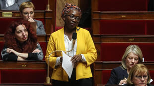 Lawmaker Danielle Obono at the National Assembly in Paris on March 3, 2020.