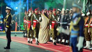 Mohammed ben Salmane effectue une visite de vingt-quatre heures dans la capitale pakistanaise Islamabad le 17 février 2019.