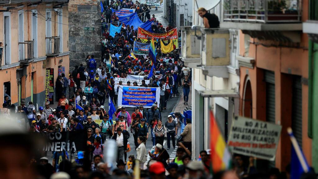 Los indígenas manifestaron disposición de esperar en Quito el regreso del presidente, Lenín Moreno, de visita en Guatemala, para exponerle la situación