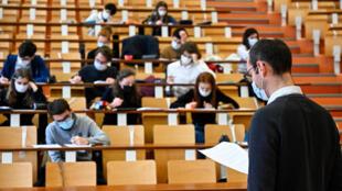 Cours à effectifs réduit à l'université de Rennes 1 le 4 février 2021