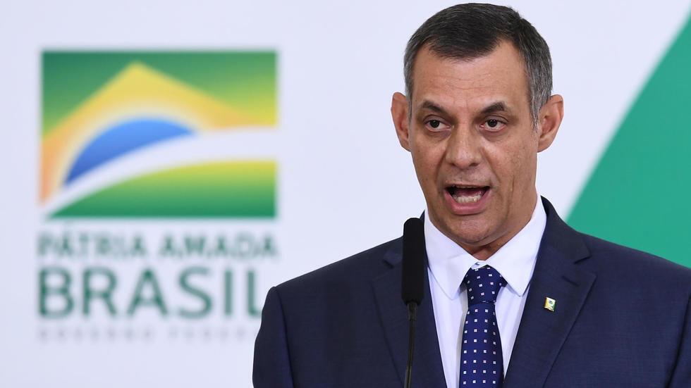 El portavoz de la presidencia de Brasil, general Otavio Rego Barros, el 11 de abril de 2019 en el Palacio Planalto, Brasilia.