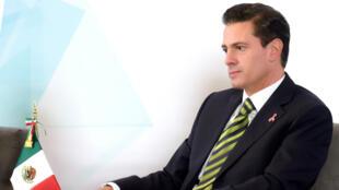El Presidente Enrique Peña Nieto durante la clausura de la Jornada por la Competencia, el 8 de ocutbre de 2018.