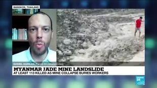 2020-07-02 13:05 Myanmar jade mine landslide kills over a hundred workers, FRANCE 24's Daniel Quinlan says