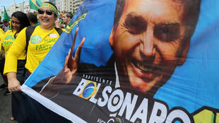 Rassemblement pro-Bolsonaro, le 21octobre, à Rio de Janeiro.