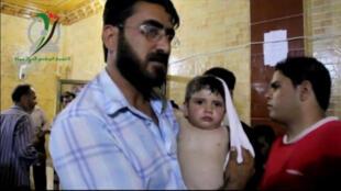 Une vidéo tournée dans un hôpital d'Idleb a été présentée jeudi 16 avril 2015  aux diplomates du Conseil de sécurité de l'ONU.