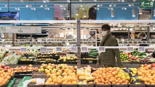 Dans un supermarché dans l'est de la France, le 16 mars 2020