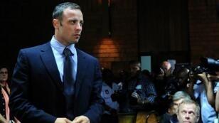 Oscar Pistorius lors de son procès.