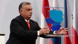 Le Premier ministre hongrois Viktor Orban, le 21 juin 2018, à Budapest en Hongrie.