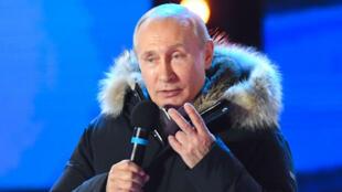 فلاديمير بوتين في 18 مارس/آذار 2018