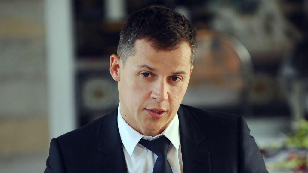 Boris Boillon, alors ambassadeur de France en Tunisie en 2011, lors d'une conférence de presse.
