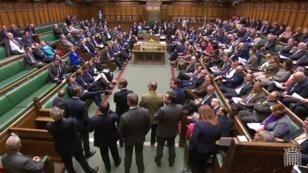Theresa May a essuyé un nouveau revers au Parlement britannique, le 1eravril2019.
