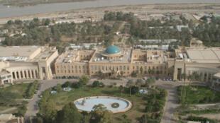 Le Palais républicain, situé dans la zone verte du centre de Bagdad.