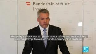 2020-11-03 11:01 Vienna attacker had previous terror conviction, Austria says as shooting death toll rises