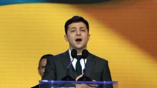Le comédien ukrainien Volodymyr Zelensky, vainqueur de la présidentielle le 21avril2019.
