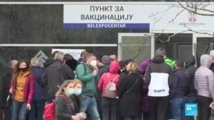 2021-03-29 07:13 Pandémie de Covid-19 en Serbie : vaccination pour tous sans rendez-vous à Belgrade