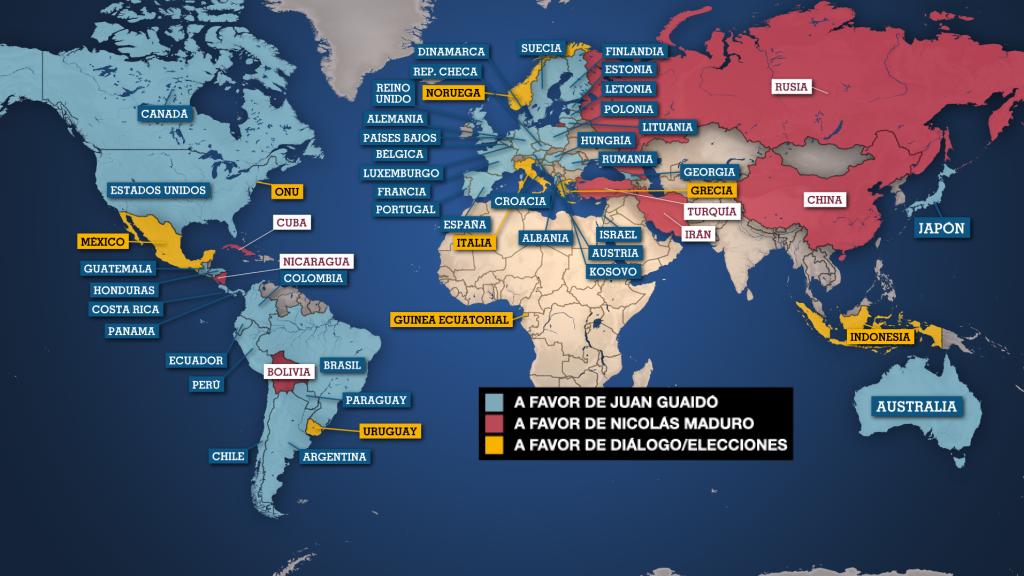 Mapa actualizado al 4 de marzo de 2019.
