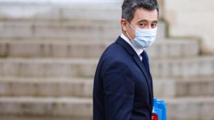 Le ministre de l'Intérieur Gérald Darmanin, le 27 janvier 2021 à Paris