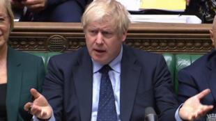 رئيس الوزراء البريطاني بوريس جونسون خلال جلسة في مجلس العموم بلندن، 3 سبتمبر/أيلول 2019.