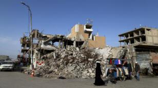 Raqqa, le 18 octobre 2018, un an après des combats entre le groupe État islamique et des combattants syriens soutenus par les États-Unis.