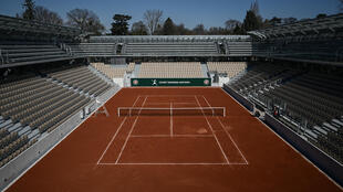 A picture taken on March 21, 2019 shows the new Simonne Mathieu tennis court after its inauguration ceremony at Roland-Garros in Paris, France.