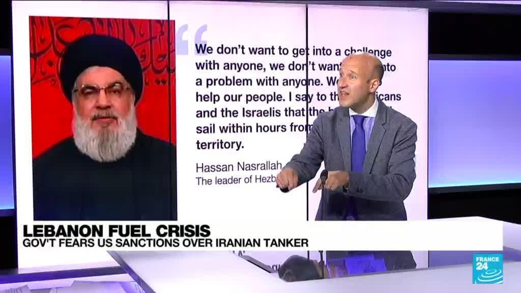 2021-08-20 08:04 Lebanon fuel crisis: Govt fears US sanctions over Iranian tanker