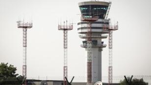 La tour de contrôle de l'aéroport de Steenokkerzeel, en Belgique, le 19 juillet 2018.